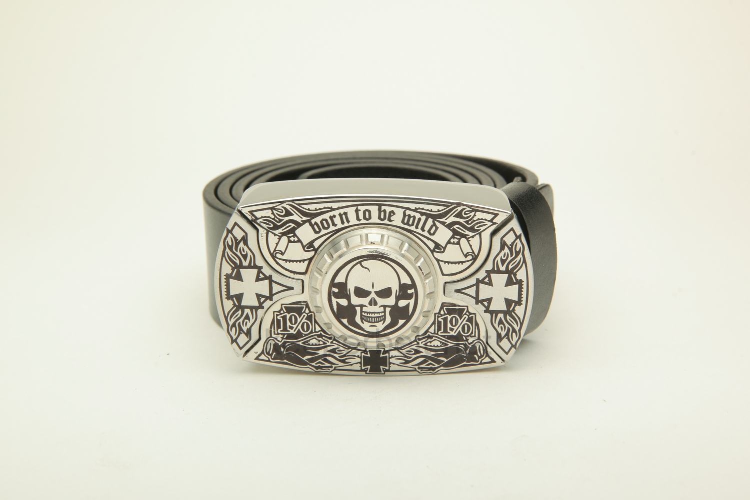 Пряжка нож KeeperBelt:  Born To Be Wild (Skull & Silver)