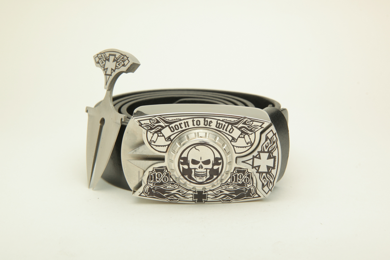 Купить пряжку нож KeeperBelt:  Born To Be Wild (Skull & Silver)